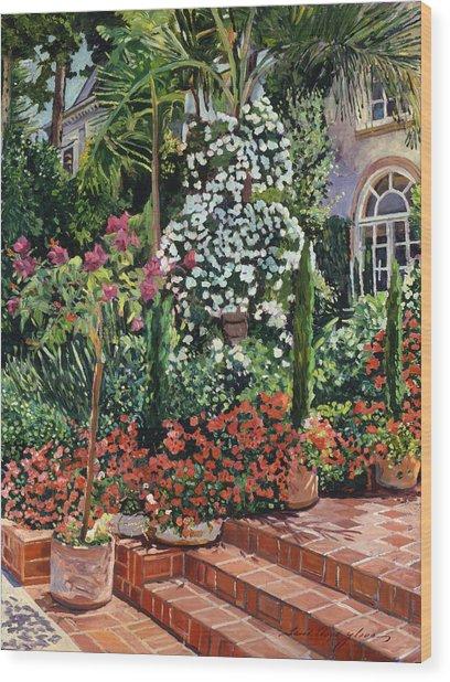 A Garden Approach Wood Print