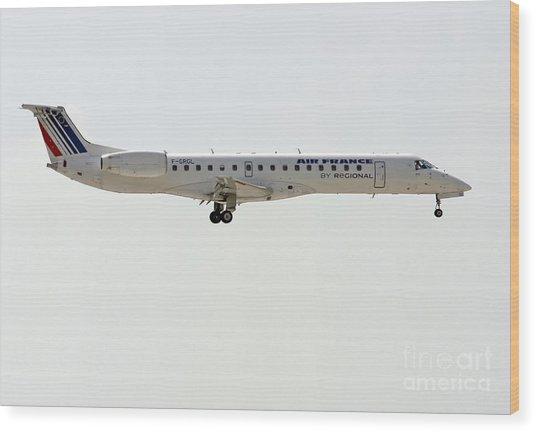 Air France Regional Airlines Embraer Erj-145eu - F-grgl  Wood Print