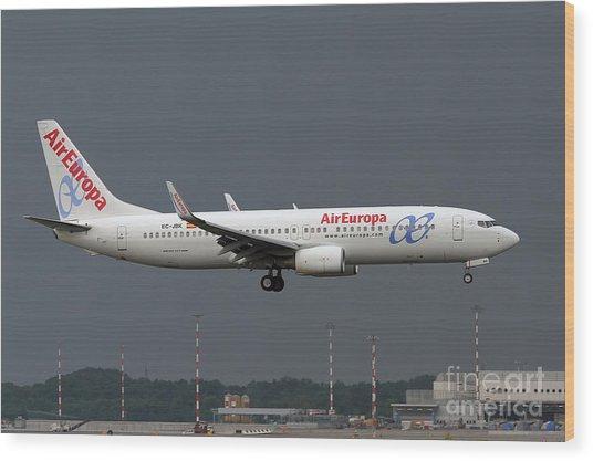 Aireuropa - Boeing 737-800 - Ec-jbk  Wood Print