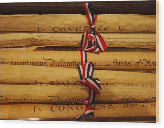 American History Wood Print by Dorota Nowak