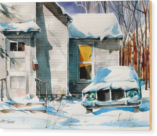 Another Snow Day Wood Print by Art Scholz