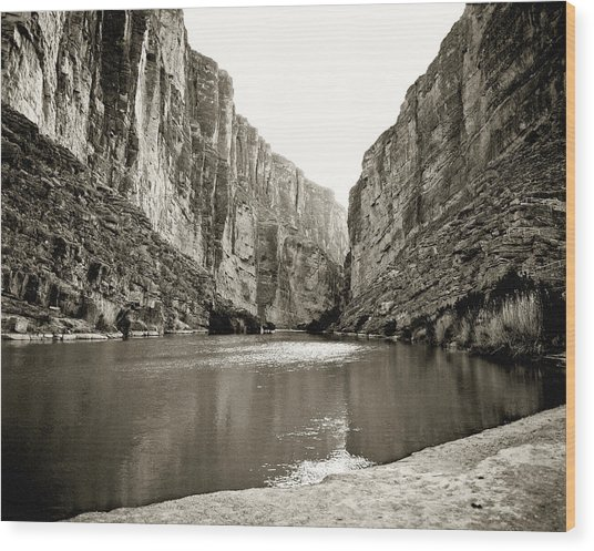 Big Bend National Park And Rio Grand River Wood Print
