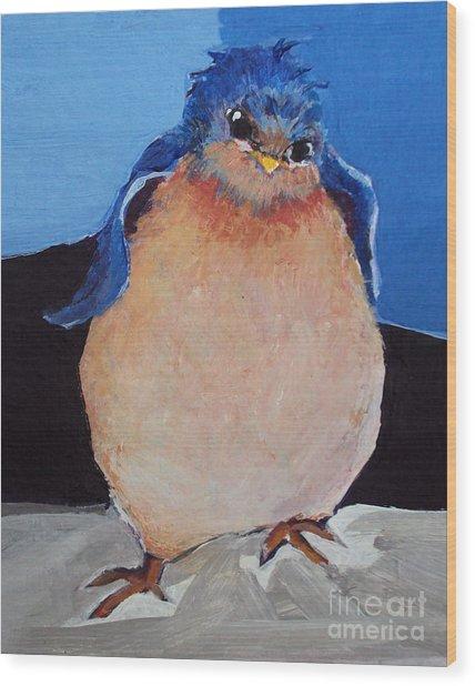 Bird With An Attitude Wood Print