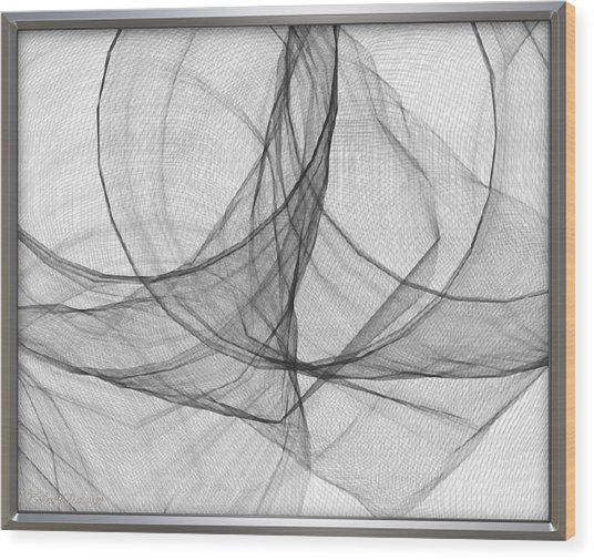 ' Caught In The Gauze Of Life ' Wood Print