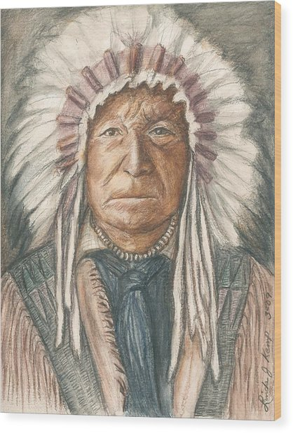 Chief Sitting Bear Wood Print