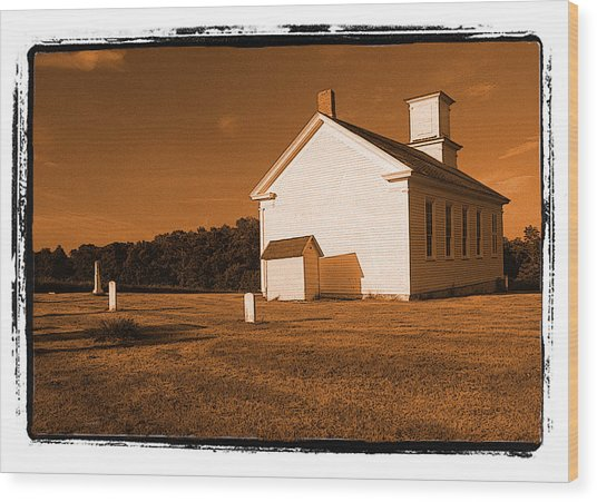 Country Church Wood Print by Craig Perry-Ollila