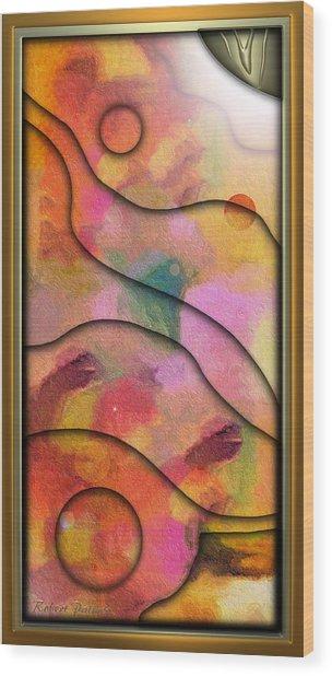 '' Days End - Setting Sun Over Mesasauga Canyon '' Wood Print