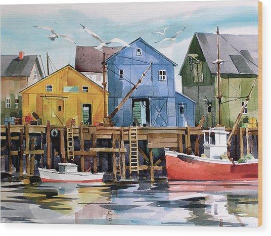 Dockside   Wood Print by Art Scholz