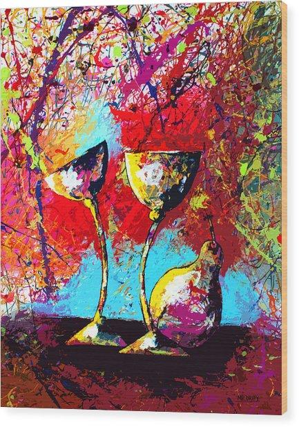 Dripx 86 Wood Print