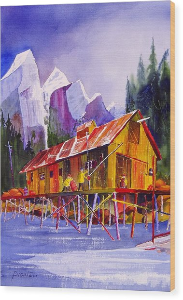 Fishermans Dock Wood Print by Buster Dight