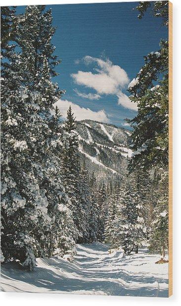 Fresh Powder Wood Print