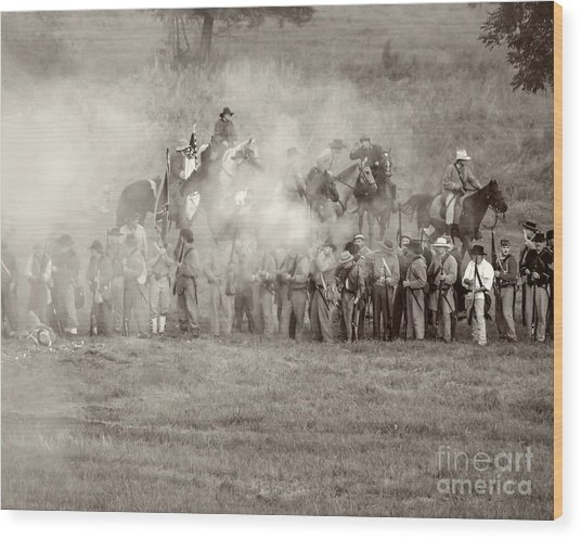 Gettysburg Confederate Infantry 7503s Wood Print