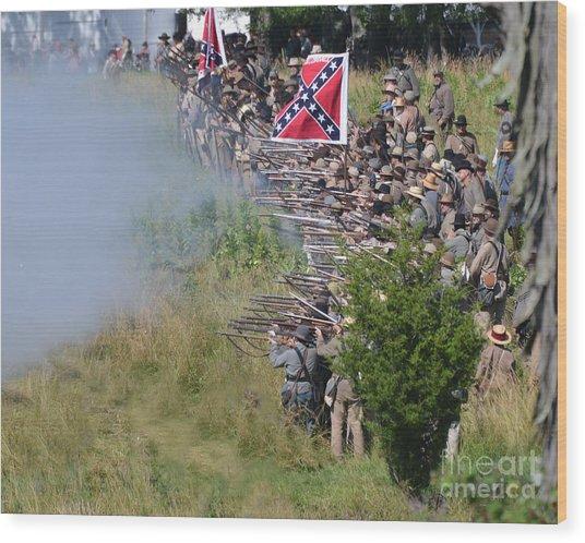 Gettysburg Confederate Infantry 8769c Wood Print