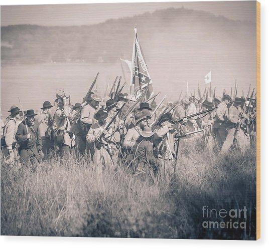 Gettysburg Confederate Infantry 9214s Wood Print