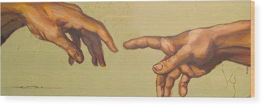 Michelangelos Creation Of Adam 1510 Wood Print