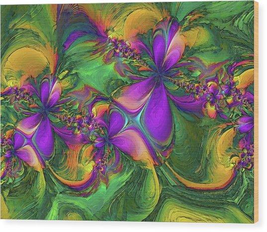 Orchids Wood Print by Alexandru Bucovineanu
