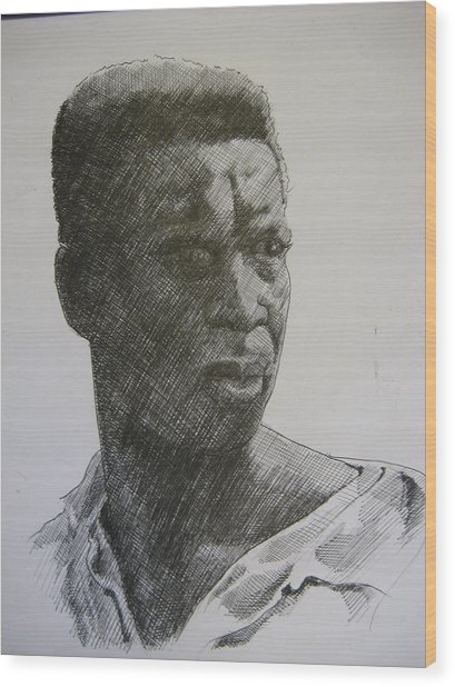 Photograph Of K. C. Wood Print by Dalushaka Mugwana