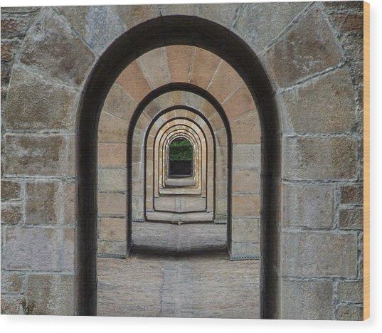 Receding Arches Wood Print
