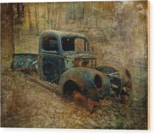 Resurrection Vintage Truck Wood Print
