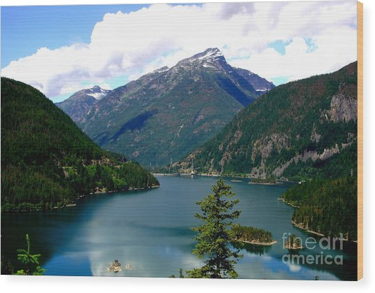Ross Lake In The North Cascades Wood Print