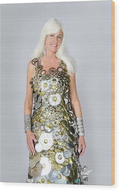 Sara In Clockwork Dragon Dress  Wood Print