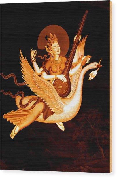Saraswati 4 Wood Print