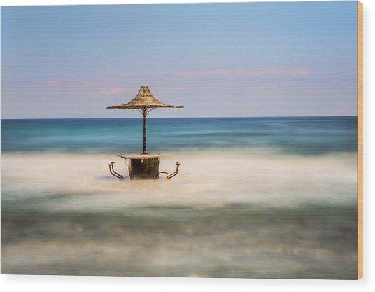 Seaside Bar Wood Print