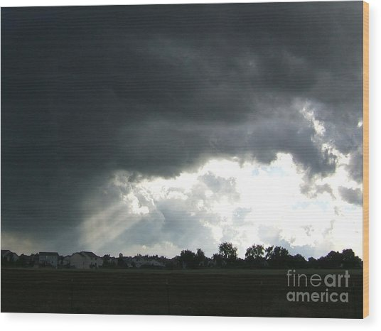 Storm Cloud  Over Westminster Wood Print by Nancy Rucker