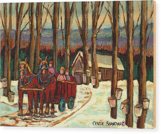 Sugar Shack Wood Print