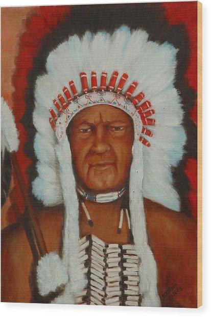 The Chief Wood Print by Merle Blair