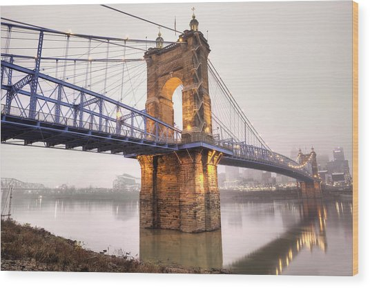 The Roebling Bridge Wood Print