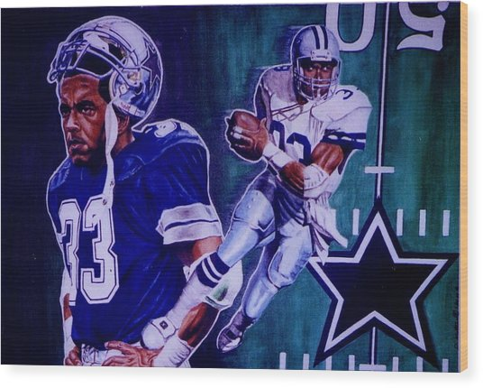 Tony Dorsett Wood Print