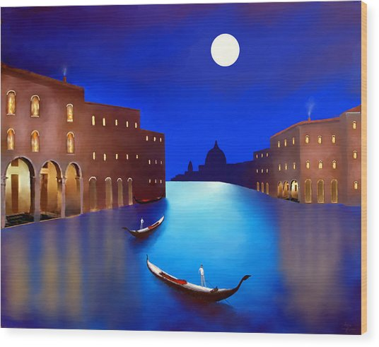 Venice Nights Wood Print