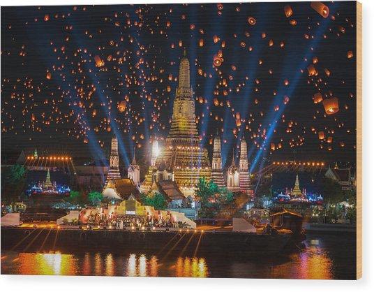 Wat Arun Temple Wood Print