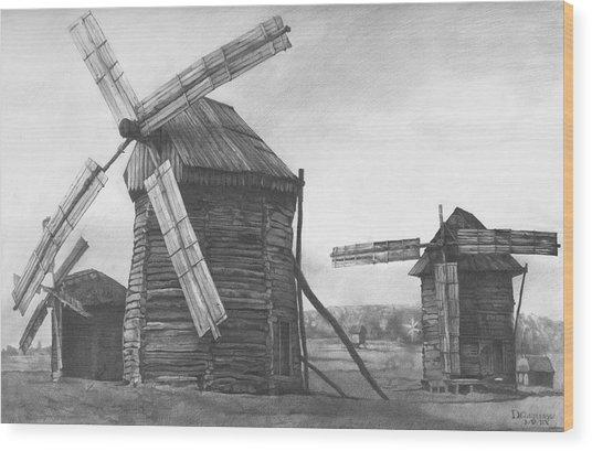 Wind Mills 2009 Wood Print
