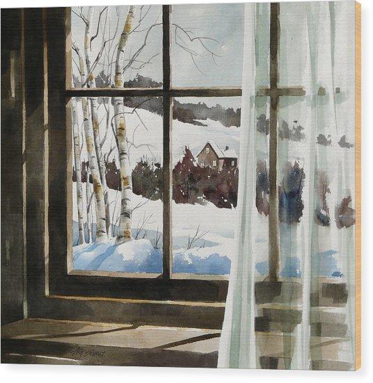 Winter Window Wood Print by Art Scholz