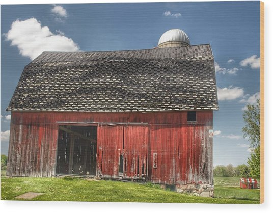 0181 Hollenbeck Road Red II Wood Print