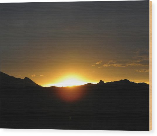 Sunrise West Side Of Rmnp Co Wood Print