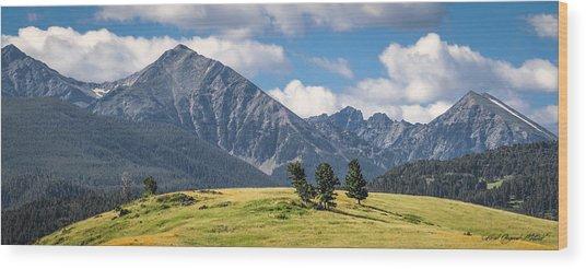 #0491 - Spanish Peaks, Southwest Montana Wood Print