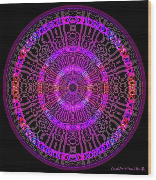 Wood Print featuring the digital art #051702158 by Visual Artist Frank Bonilla