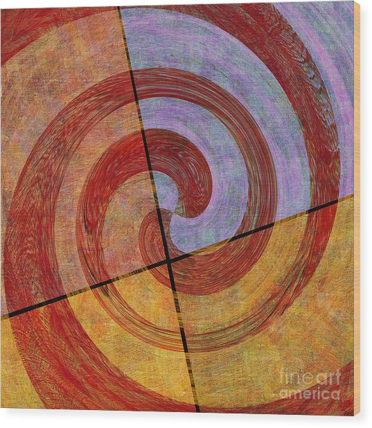 0581 Abstract Thought Wood Print