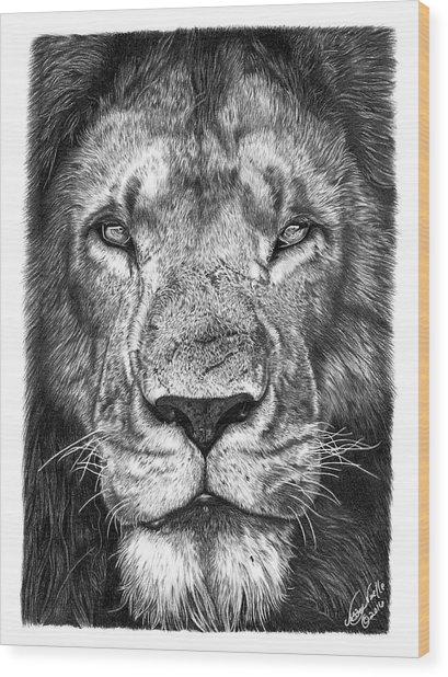 059 - Lorien The Lion Wood Print