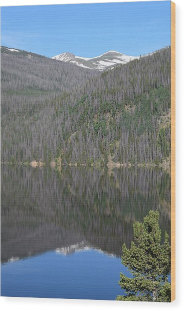 Chambers Lake Reflection Hwy 14 Co Wood Print