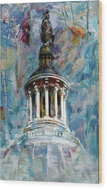 063 United States Capitol Dome Wood Print