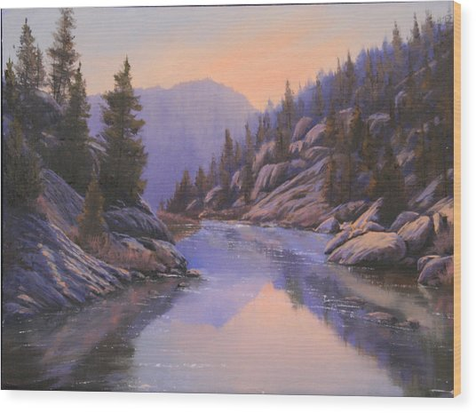 071123-1612  Remnants Of The Day In The Canyon Wood Print by Kenneth Shanika