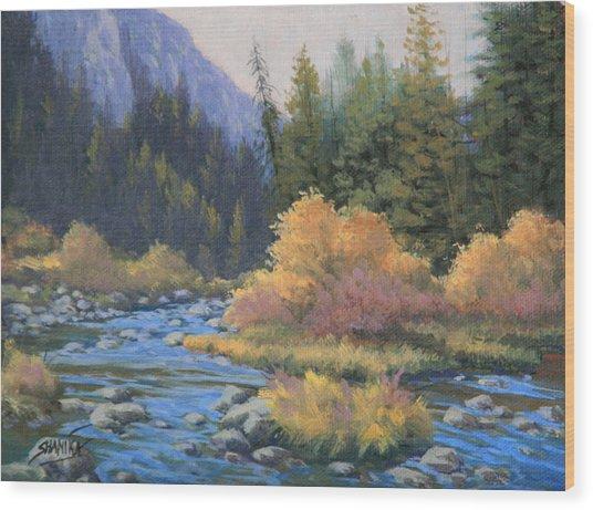 090917-68  Canyon Stream Wood Print by Kenneth Shanika