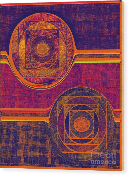 0523 Abstract Thought Wood Print