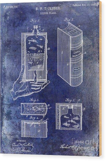 1885 Liquor Flask Patent Wood Print