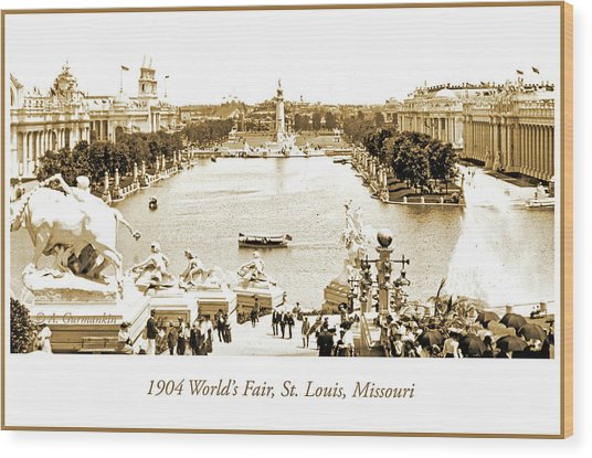 1904 World's Fair, Grand Basin View From Festival Hall Wood Print
