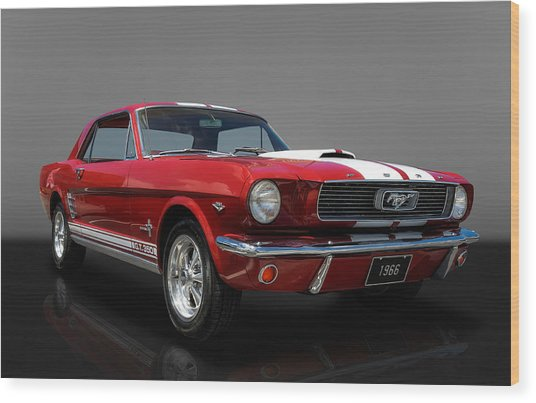 1966 Ford Mustang Coupe Wood Print